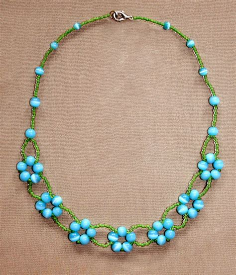 jewelry patterns to make jewelry free pattern for beaded necklace blue flowers magic