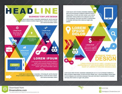 set of vector design template for business brochure