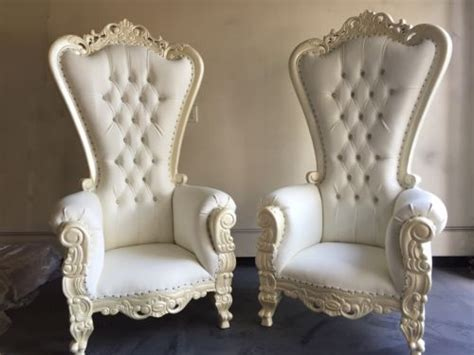 king and chairs for sale after sale two ornate baroque wedding