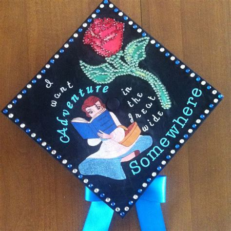 graduation cap decoration and the beast