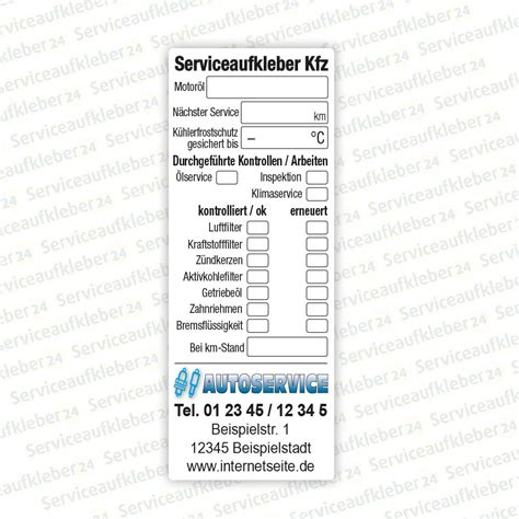 Aufkleber Kfz by Serviceaufkleber Kfz Werkstatt Serviceaufkleber24 De