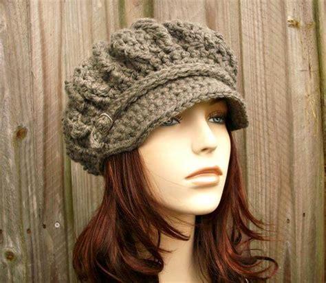 45 diy crochet brimmed beanie hat design diy to make