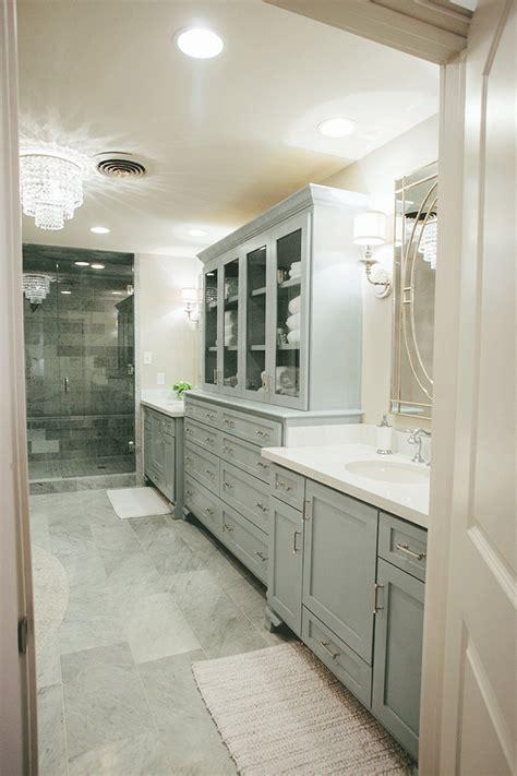 master bath linen cabinet kids bathroom with separate washstands design ideas