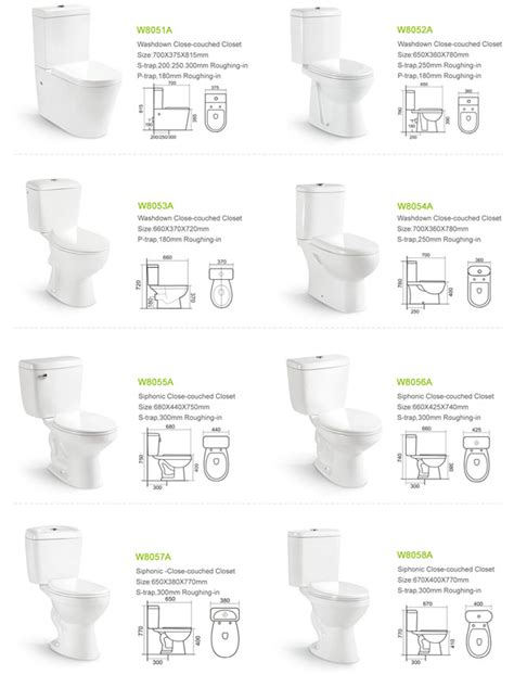 Water Closet Type by Dual Water Inlet Washdown Two Toilet Closet