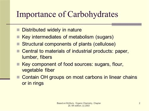 2 structural carbohydrates chapter 25 biomolecules carbohydrates ppt