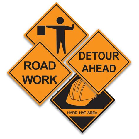 free printable road construction signs construction signs clipart best