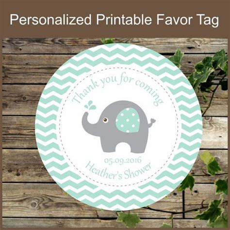 Stickers For Baby Shower Favors by Elephant Favor Tag Personalized Sticker For Baby Shower