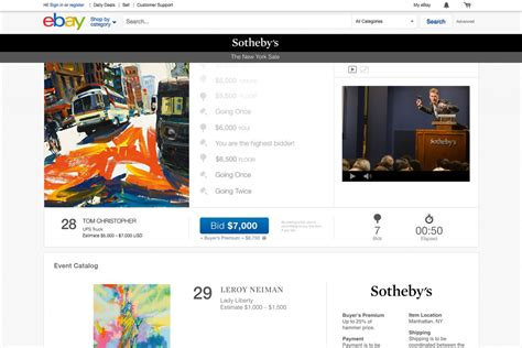 live bid ebay launches high end auctions with sotheby s the verge