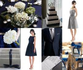 navy blue and silver wedding themes navy blue and white wedding