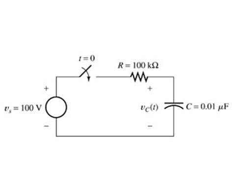 capacitor function the initial voltage across the capacitor shown chegg