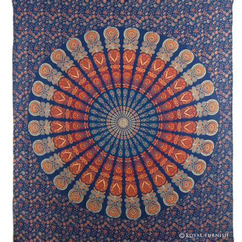 blue hippie floral mandala tapestry bedspread bed cover blue indian floral mandala dorm room decor hippie tapestry