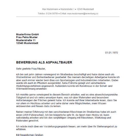 Lebenslauf Vorlage Jungkoch Bewerbung Als Asphaltbauer Asphaltbauerin Bewerbung Co