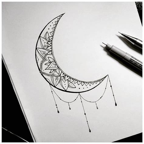 mandala moon tattoo 25 best ideas about moon tattoos on moon