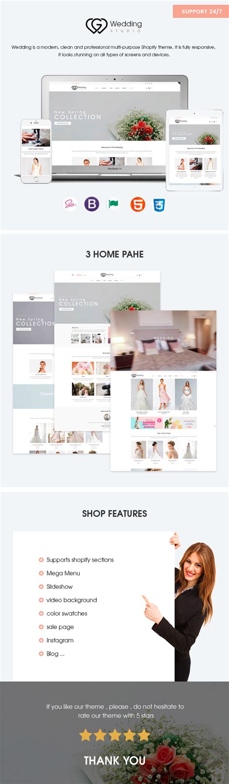 wedding responsive shopify theme shopify themify