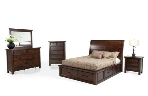 hudson bedroom set hudson 8 storage bedroom set mybobs