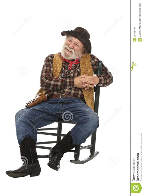 Time Out Chair With Timer happy old cowboy sits in rocking chair stock images