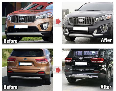 All New Innova Skid Plate Colour By Request front rear bumper guard skid plate kit parts for kia 2015 2017 sorento um ebay