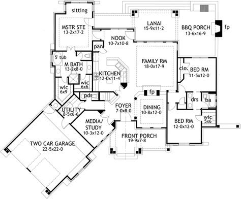 Cottage Style House Plans   2091 Square Foot Home , 1
