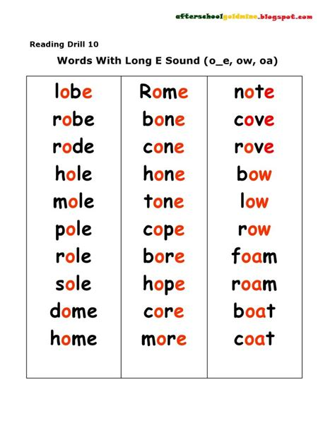 y pattern words long vowel word lists christmas in classroom pinterest