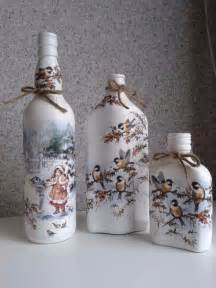 How to decorate glass bottles with decoupage diy recycle with art