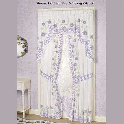 cottage curtains window treatments cottage garden lavender chenille window treatment