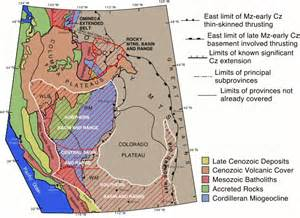 tectonic plates map united states tectonic history of the western u s