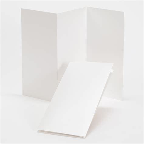 Tri Fold Perforated Paper - impressions white shimmer tri fold program 4 x 8
