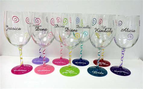 Custom Wine Glasses Personalized Wine Glasses Painted Wine Glass Wedding