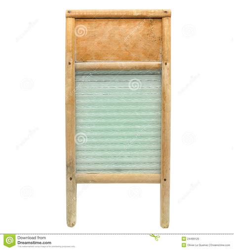 Laundry Washboard vintage wood and glass laundry washboard isolated royalty