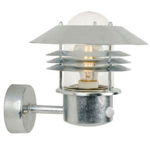 outdoor pir lighting vejers pir outdoor light up galvanised 25101031 163 75 20