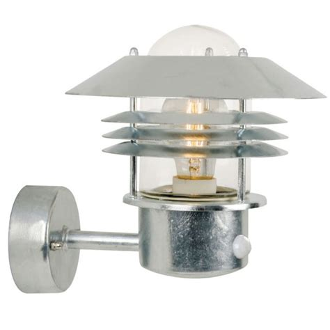 Outdoor Lighting With Pir Vejers Pir Outdoor Light Up Galvanised 25101031 163 79 16