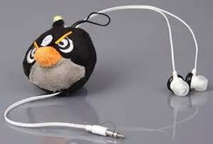 Headset Earphone Headphone Angry Bird An 40 angry birds retractable headphones cool usb toys