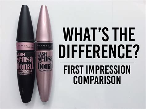 Mascara Lash Sensational maybelline lash sensational mascara comparison