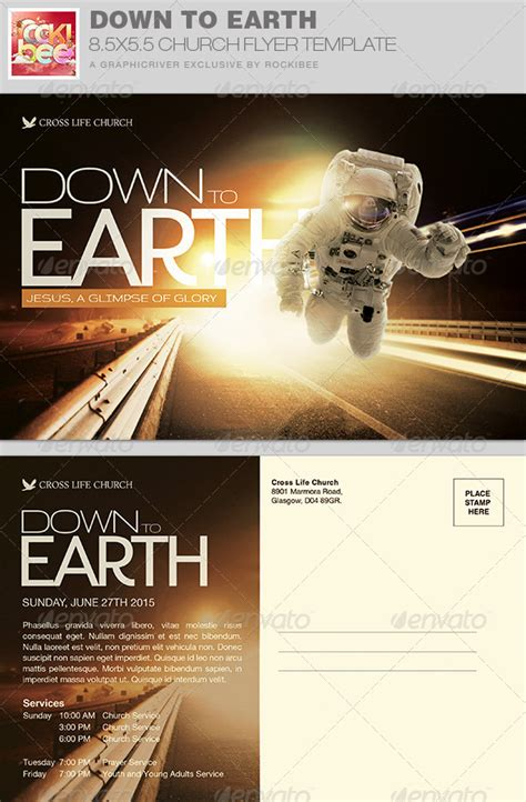 Down To Earth Church Flyer Invite Template Graphicriver Graphicriver Iii Flyer Template
