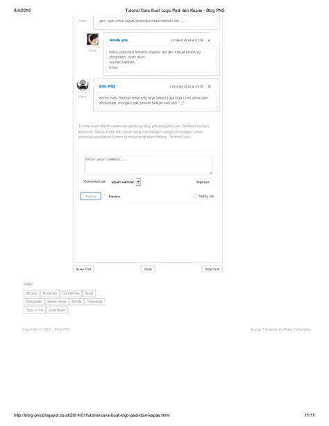 tutorial buat website html tutorial cara buat logo padi dan kapas blog pns