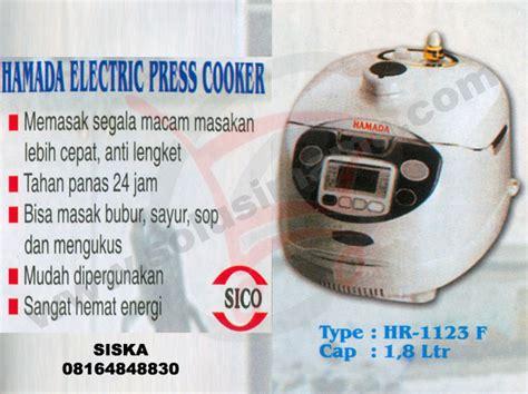 Rice Cooker Hamada solusi electric press cooker hamada