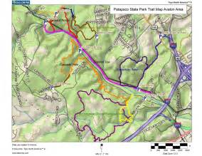 Patapsco Valley State Park Map by Patapsco State Park Avalon Area Trail Map Hiking Trip
