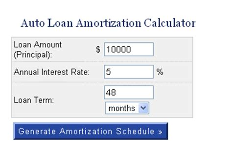 auto amortization schedule excel lovely car amortization calculator