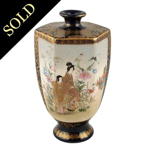 Japanese Pottery Vases by Antique Japanese Vase Satsuma Pottery Vase