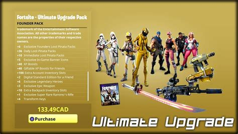 ultimate upgrade founders pack fortnite save