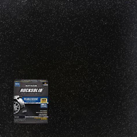Rust Oleum RockSolid 76 oz. Pearlescent Pearl Black Garage