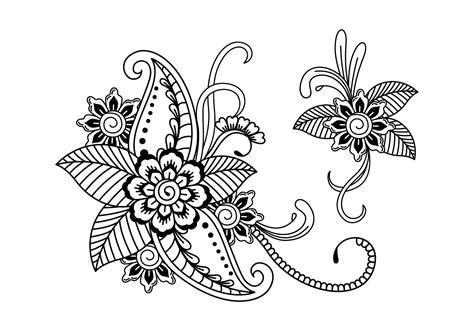 henna art illustration   vectors clipart
