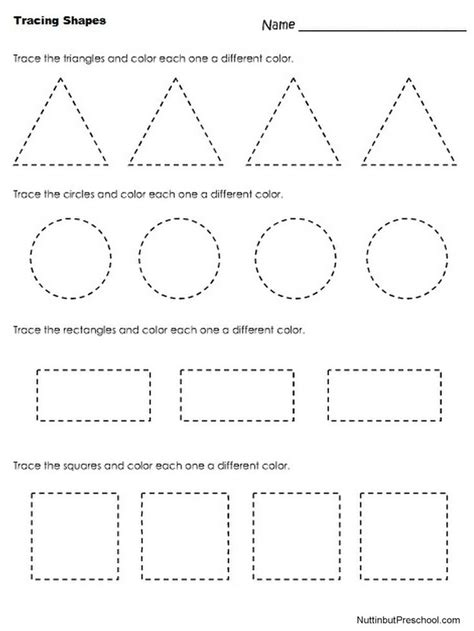 printable shapes for kindergarten free tracing shapes worksheets for preschoolers picture