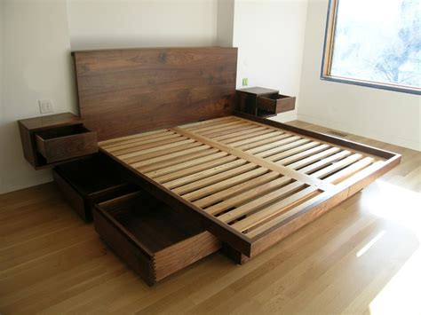modern bed plans platform bed with drawers underneath ideas reference