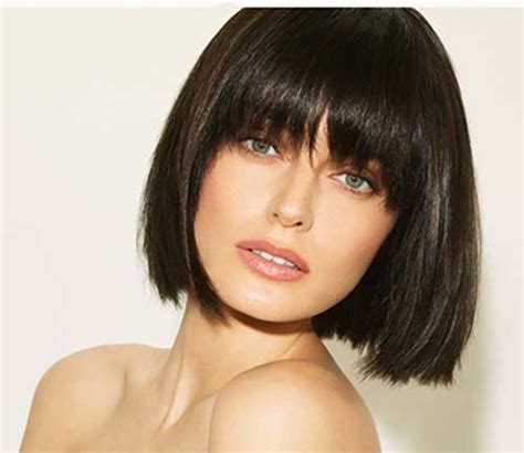 hairstyles chin length with bangs short straight hair styles the best short hairstyles for