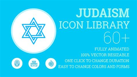 Judaism Religion Icons Icons Symbols And Elements Special Events After Effects Templates Religious After Effects Templates