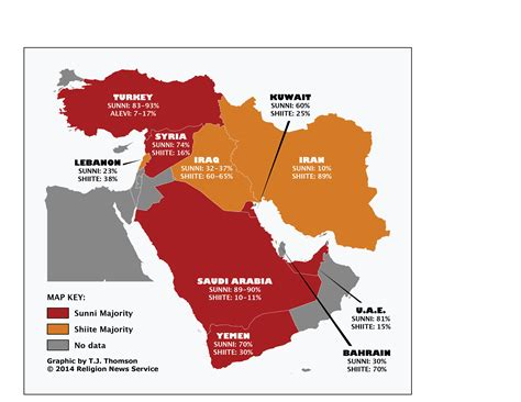 middle east map muslim countries judaism in middle east map