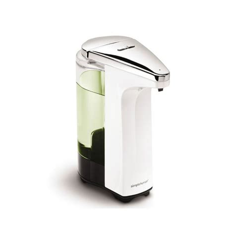 simplehuman 174 compact sensor pump for soap or sanitizer in white or black at kitchensource com