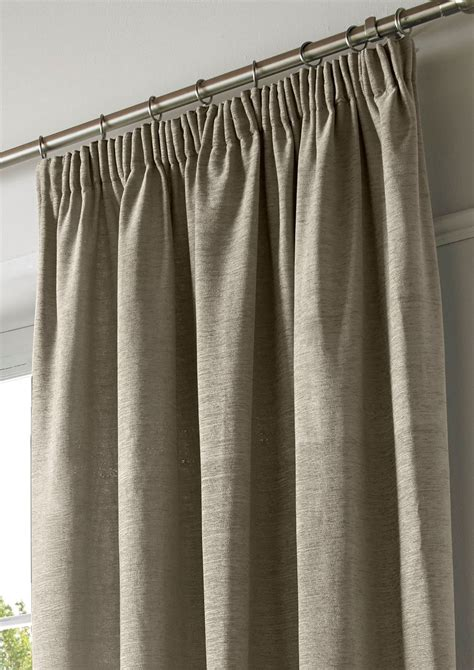 plain pencil pleat curtains chenille lined tape top curtains plain pencil pleat