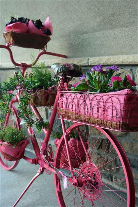 hometalk bike turned flower planter